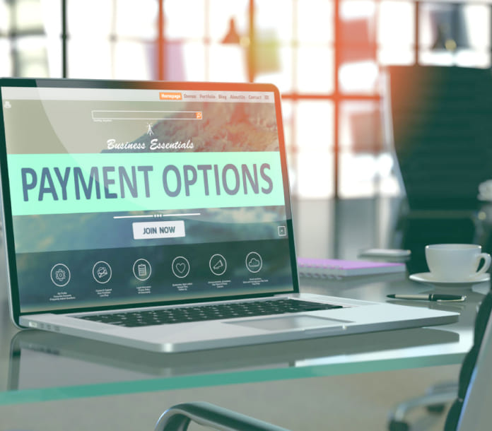 Payment Options on Laptop Merchant Services in Fort Worth, Texas
