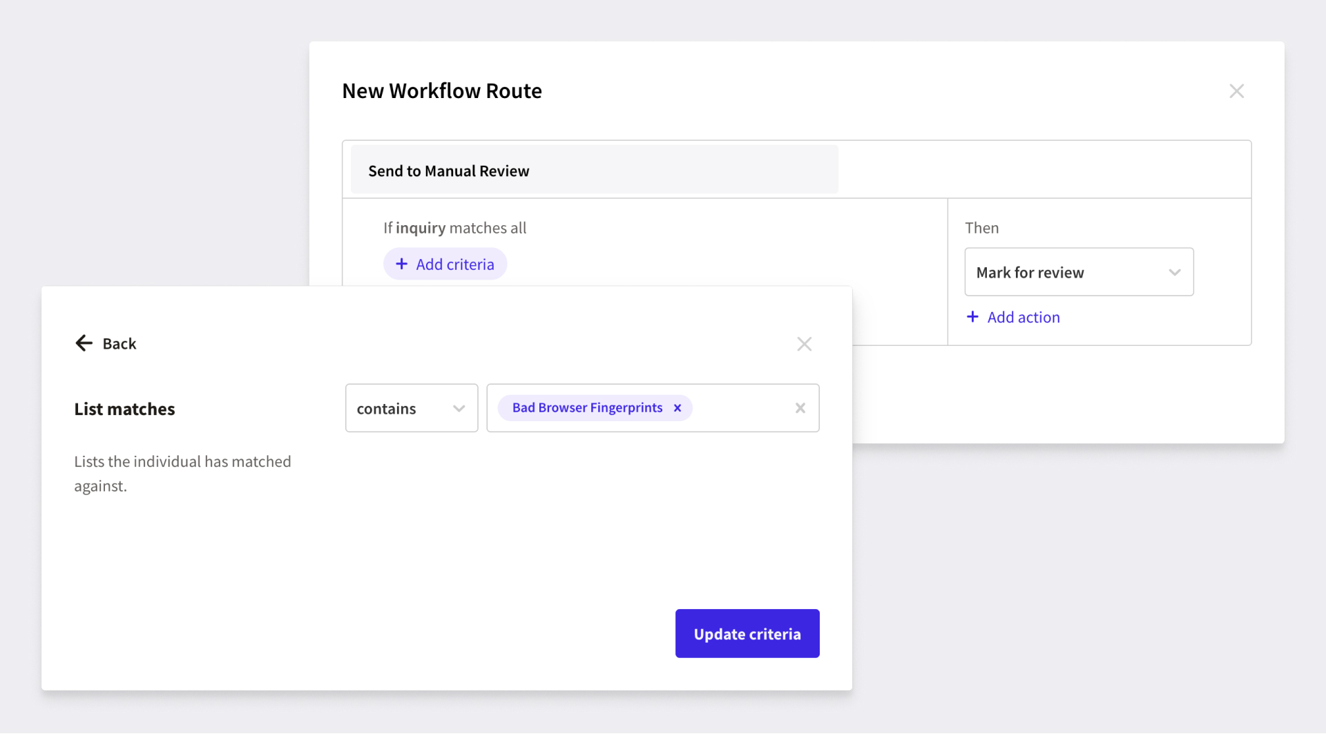 new workflow UI
