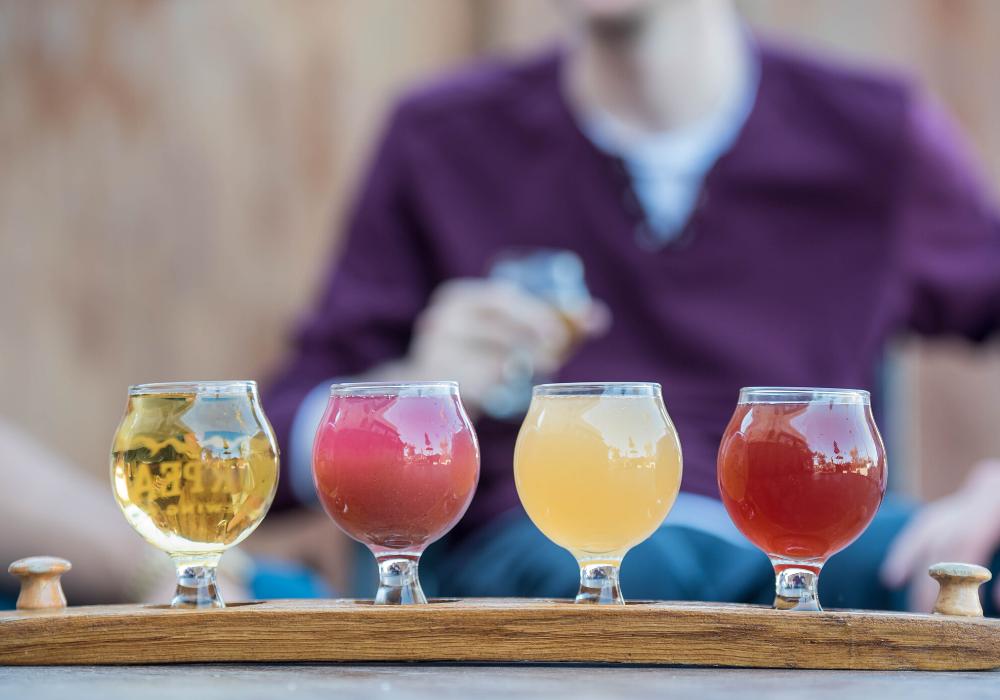 Flight of drinks.