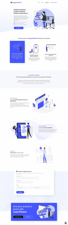 ux design full page image of webflow website for superpatient