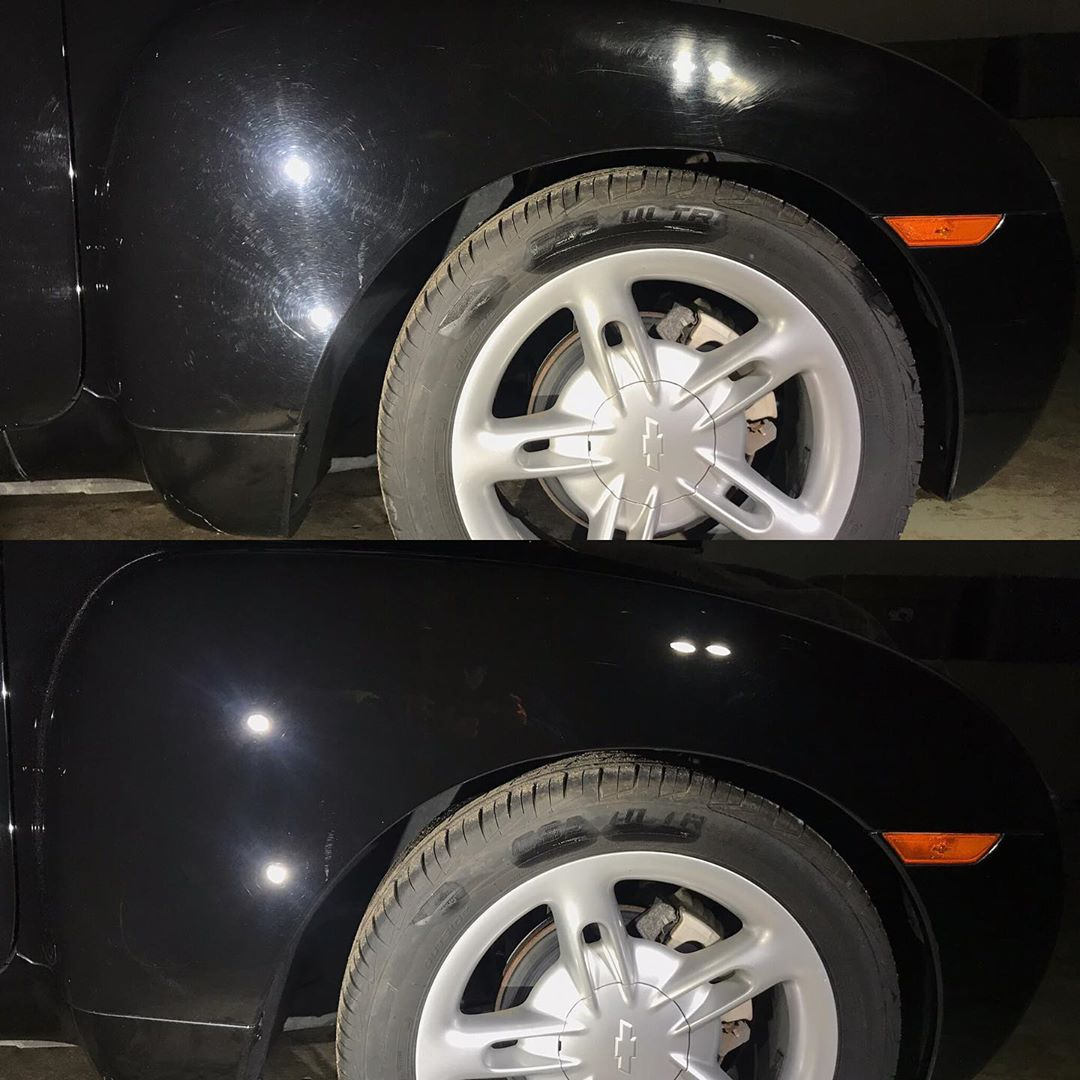 Ceramic coating on Porsche