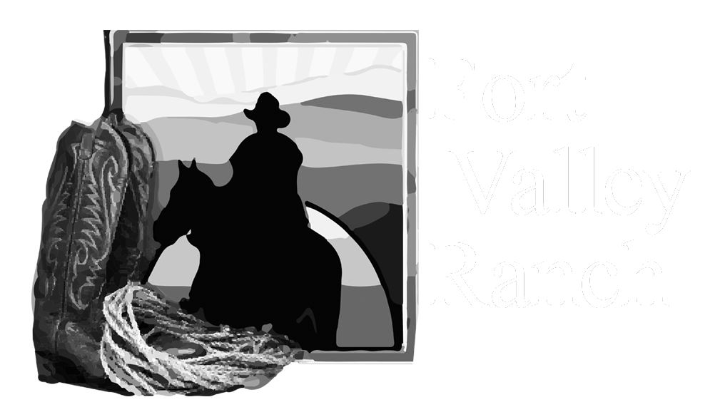 fort valley ranch in greyscale
