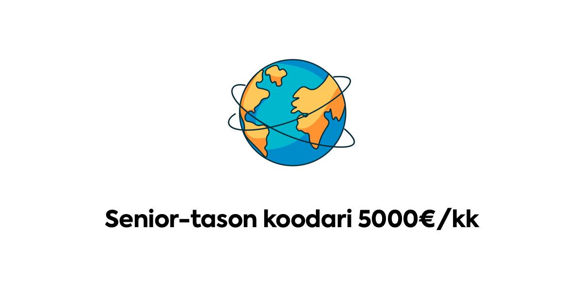 Talentbyte koodari 5000€/kk