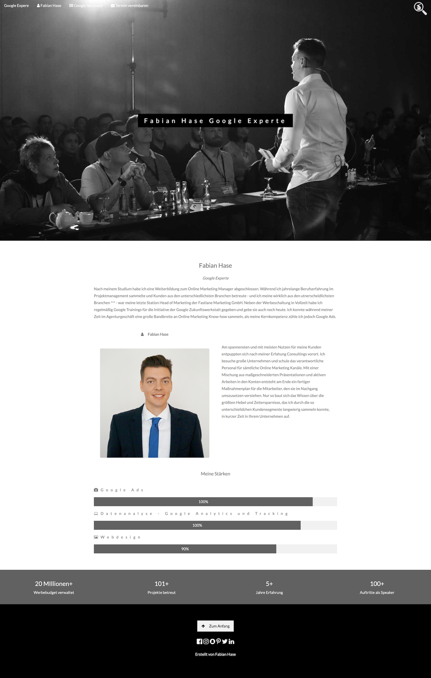 Website Screenshot Fabian Hase