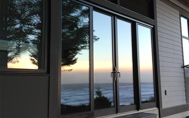 Window cleaning project in Cannon Beach, OR