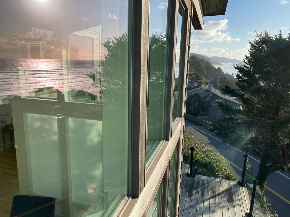 Cleaned windows in Cannon Beach