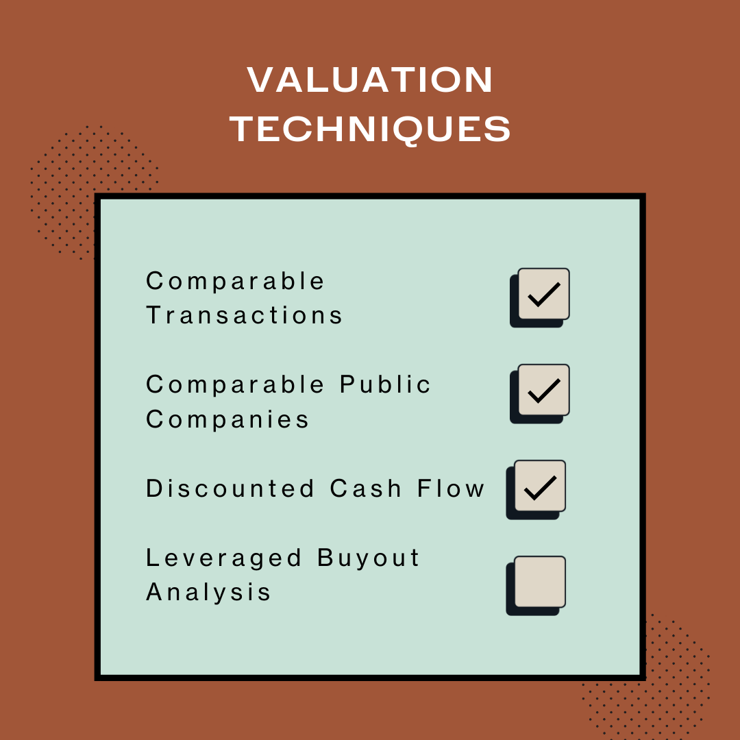 The major valuation techniques