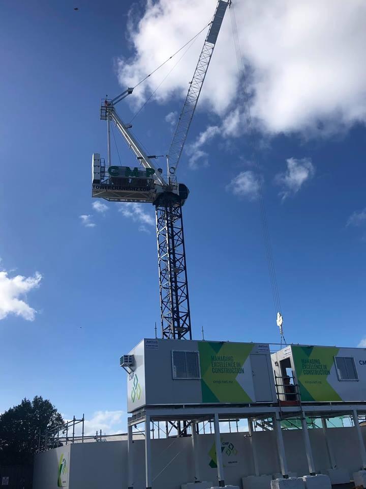 Crane at Jervois apartments construction site