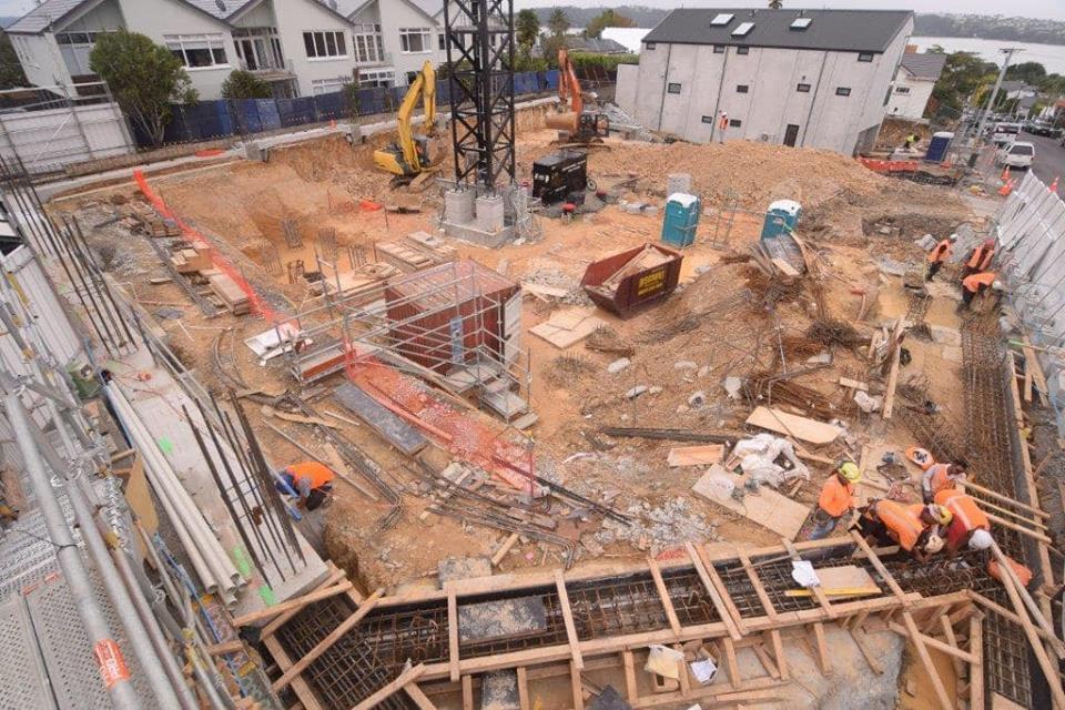 Jervois apartments construction