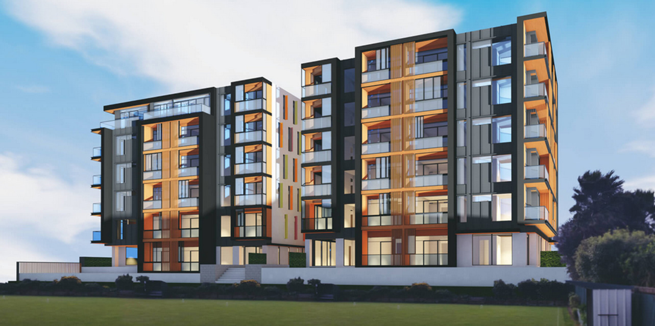 Sargeson apartments - architectural render
