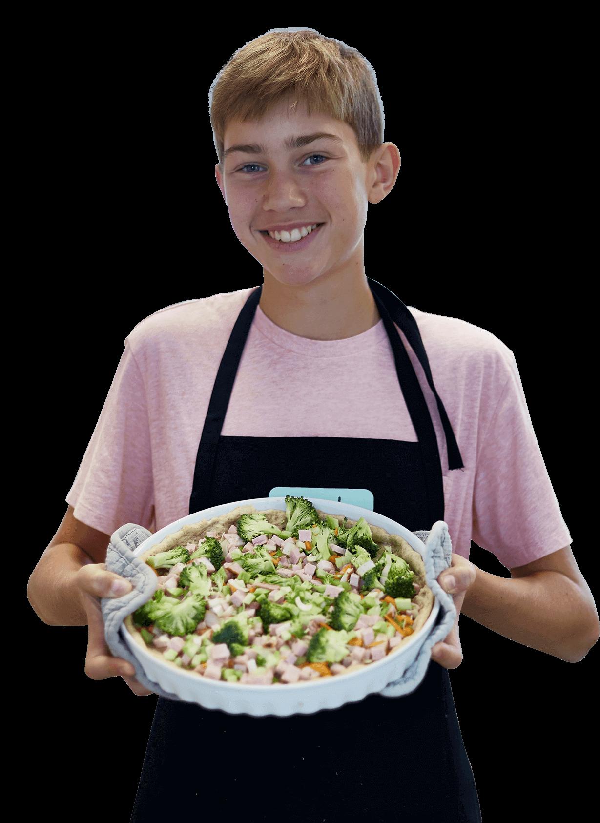 Børn, unge og mad - Dreng med mad