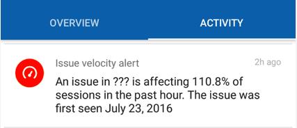 issue velocity alert