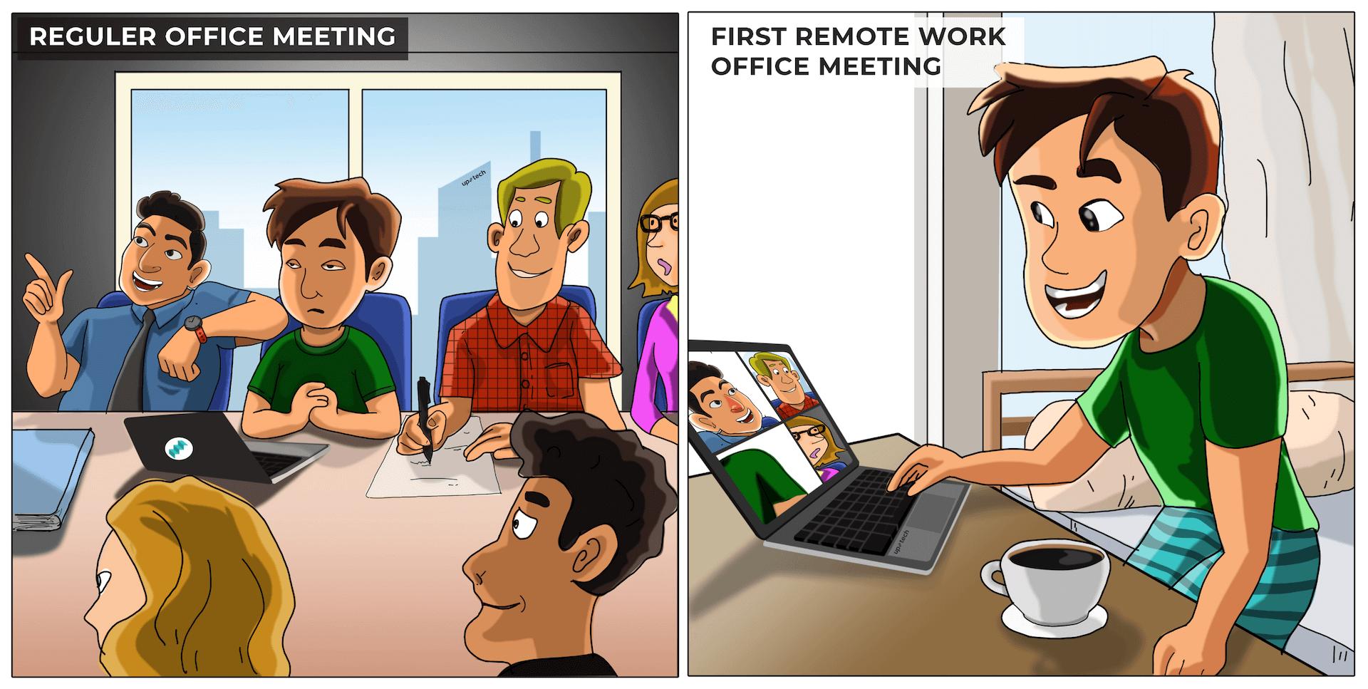 remote process in tech company