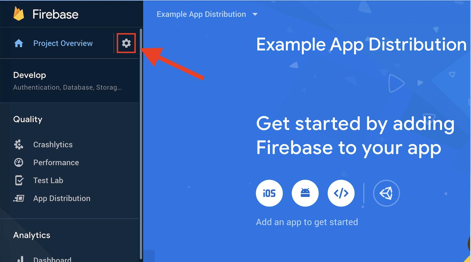 firebase setup