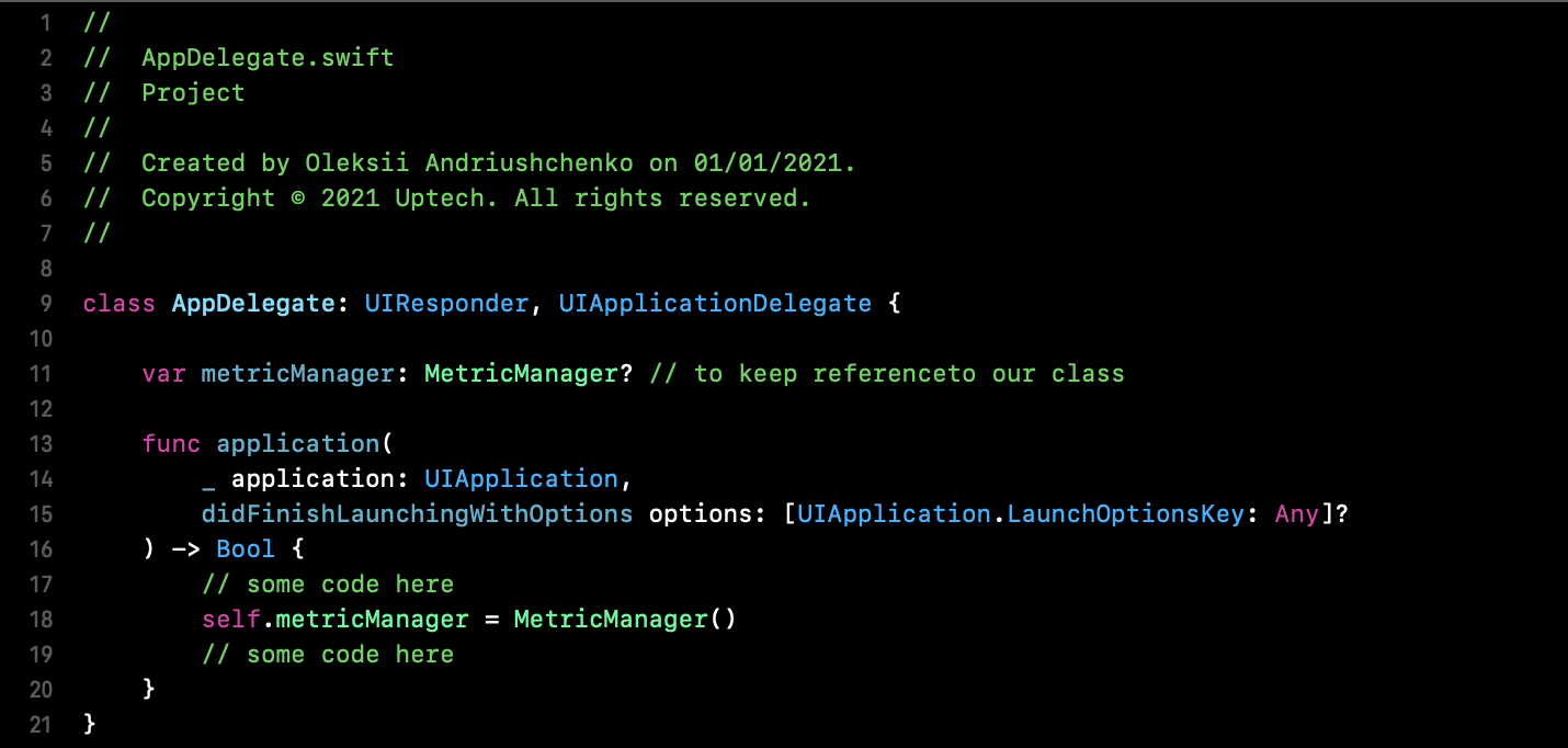 app performance with MeticKit