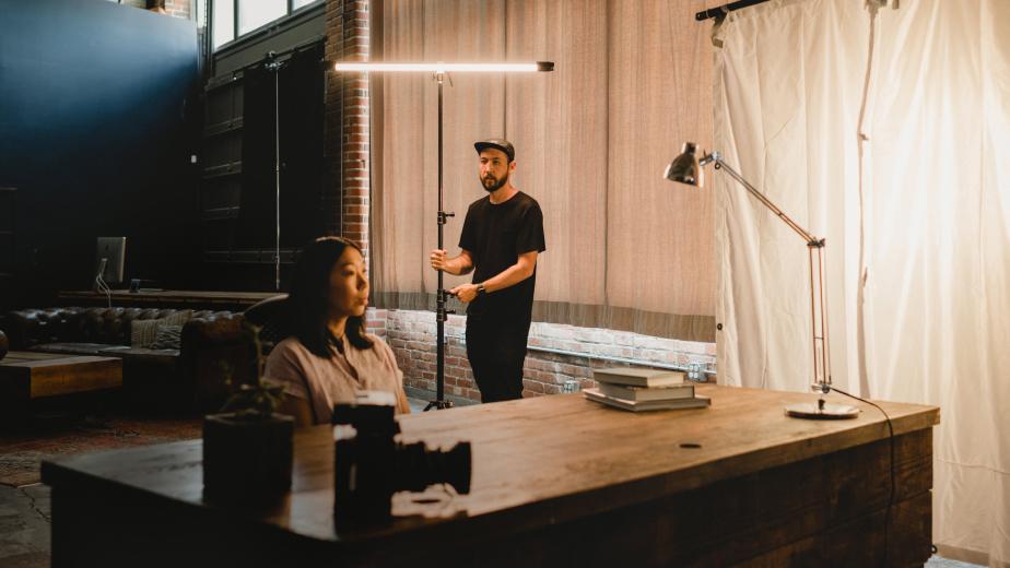 Spenser Sakurai teaching lighting techniques