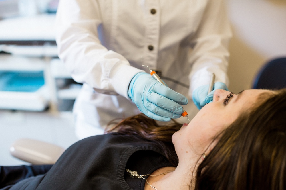 Patient receiving sedation dentistry