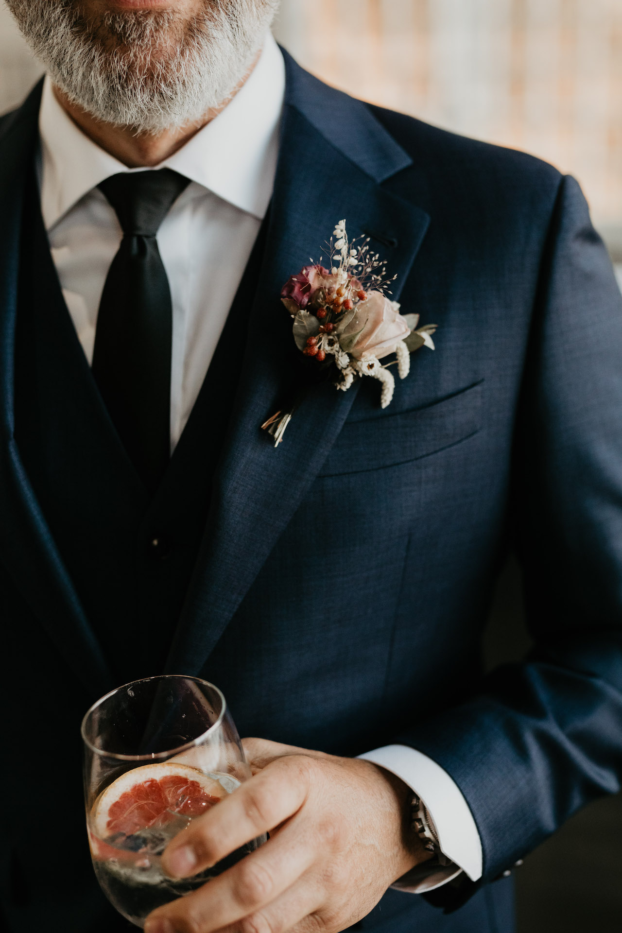 Man wearing flower