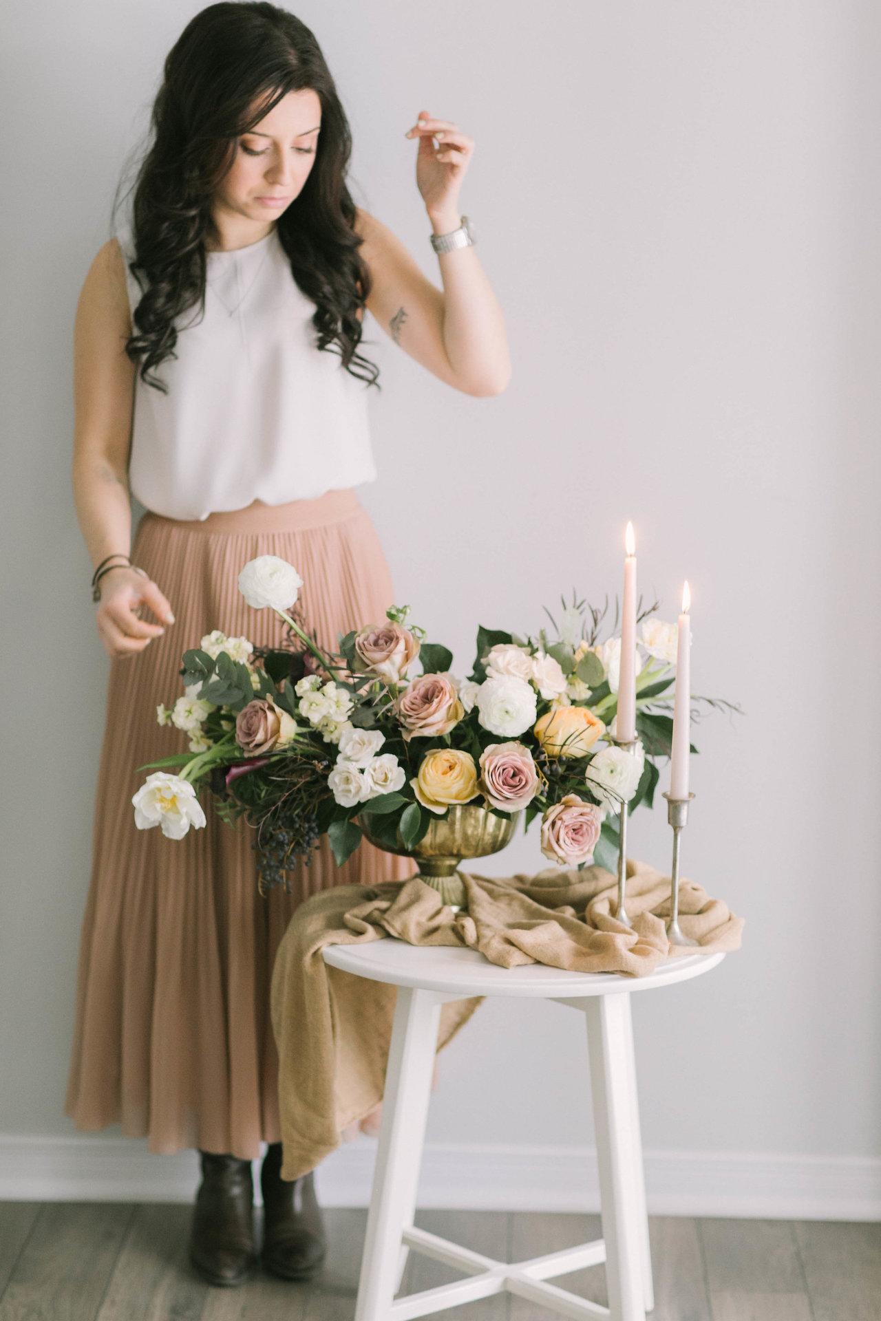 Rikki and flowers