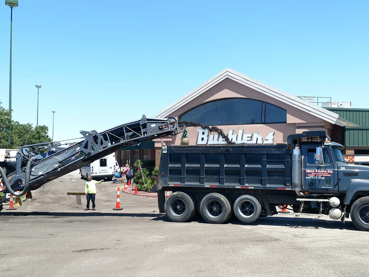 Paving project for Beuhler's Medina - Most Paving Company
