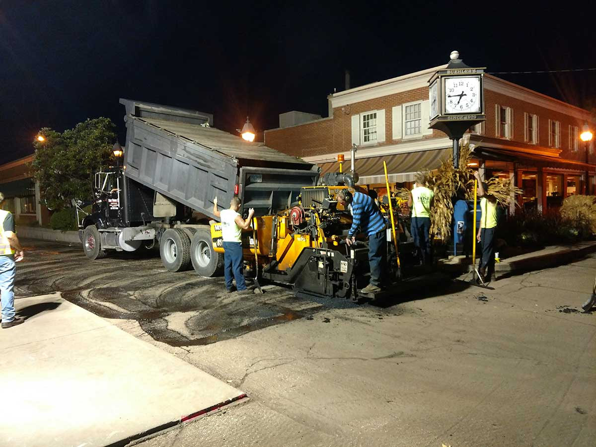 Paving project for Beuhler's Towne Market - Most Paving Company