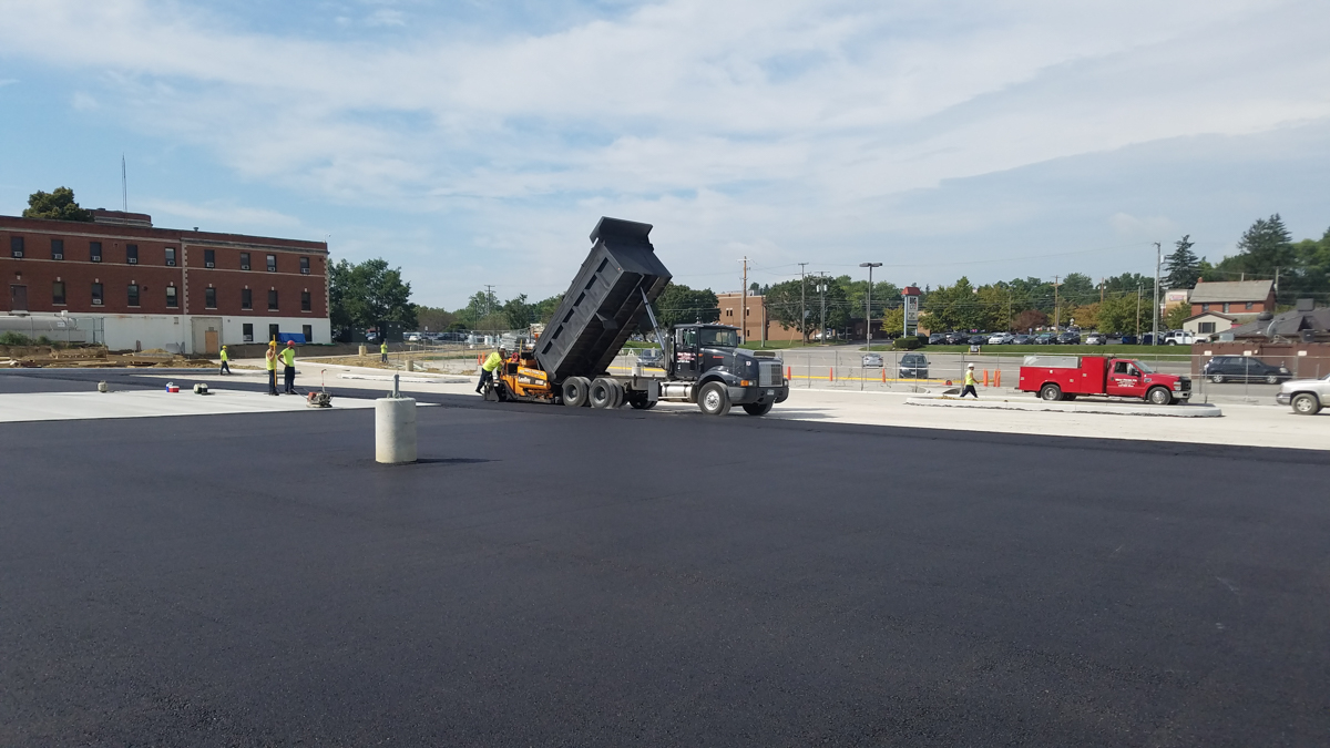 Paving project for Wooster Hospital - Most Paving Company