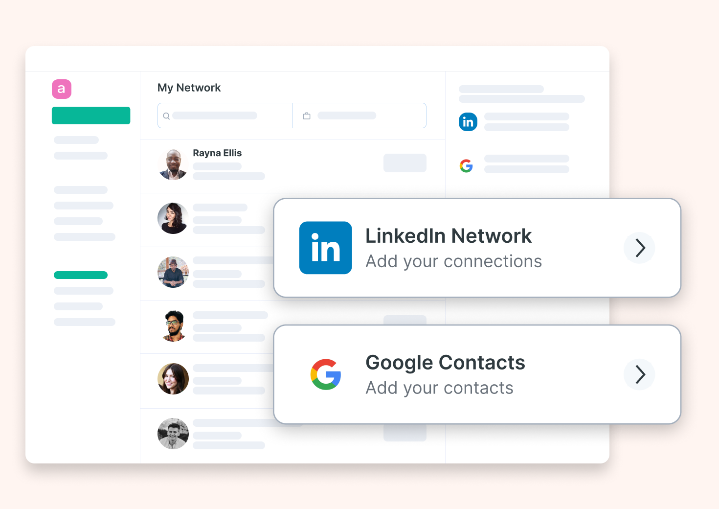 Connect your employees LinkedIn and Gmail network.
