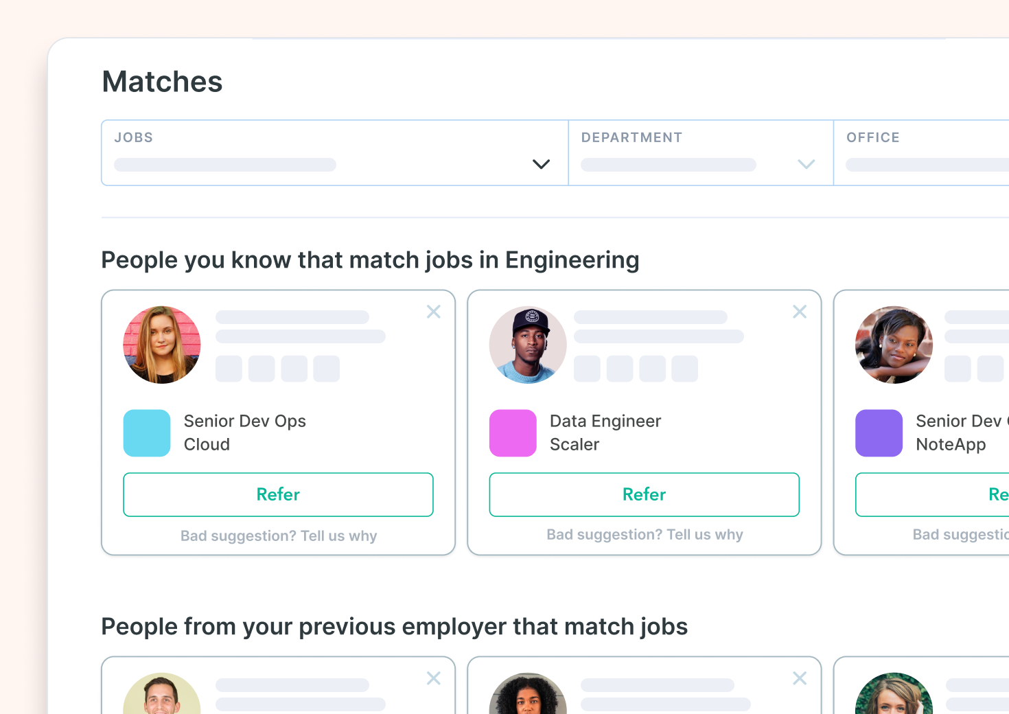 Get smart referral suggestions with Drafted Matches.