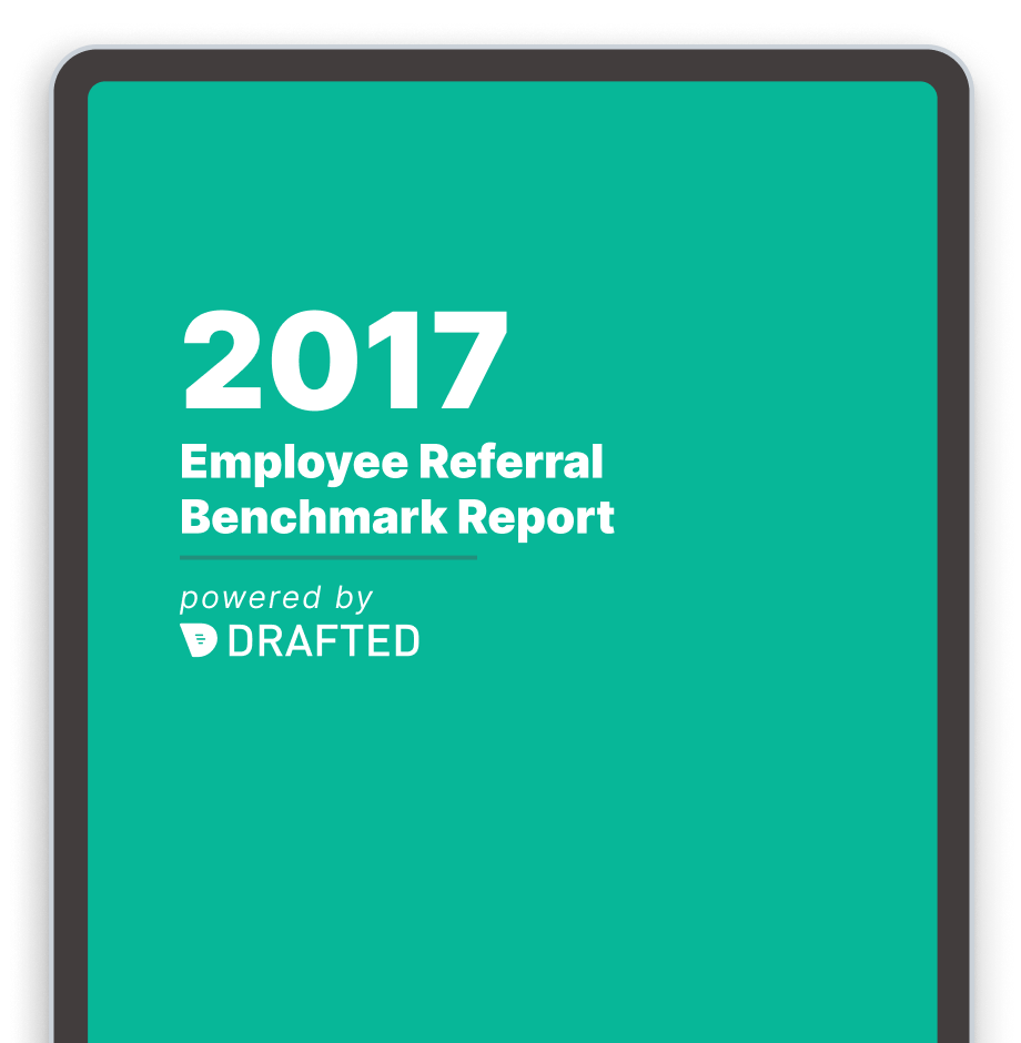 Image of the 2017 employee referral benchmark report cover