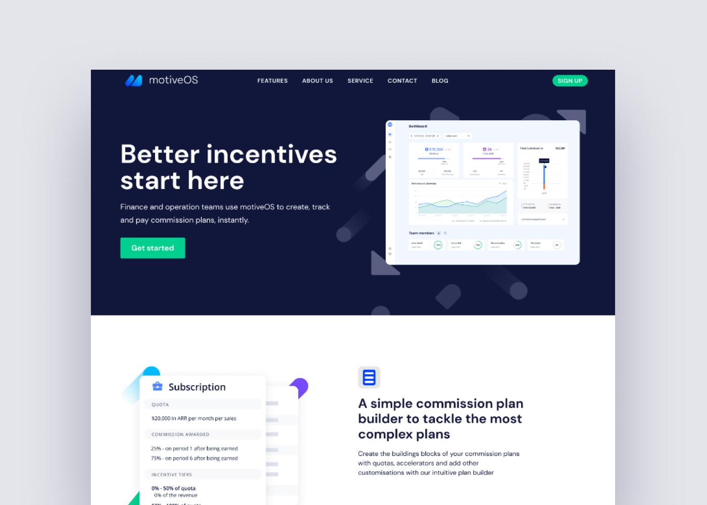 MotiveOS Website
