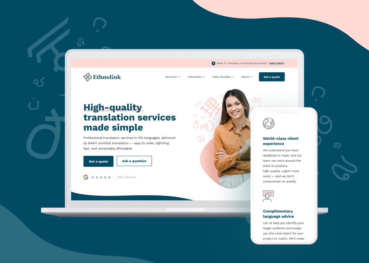 Ethnolink Website Design