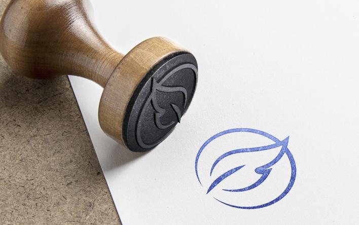 Austin J. Milks logo stamp