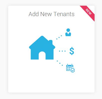 Example of Add New Tenant Widget