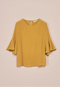 Silk Frill Sleeve Blouse