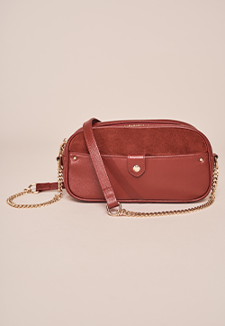 Chloe Suede Panel Leather Camera Bag
