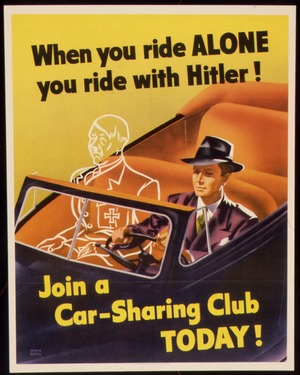 Wartime Carpooling Poster
