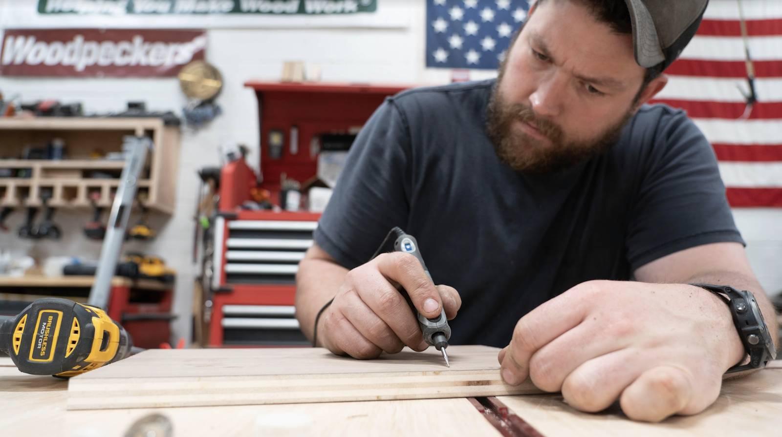 John Malecki focuses on using the DREMEL Stylo+ Versatile Craft Tool