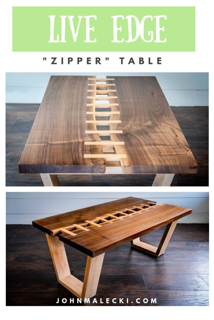 "Live Edge River ""Zipper"" Table"