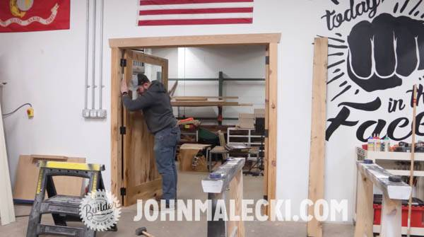 John Malecki hangs DIY Door Panels