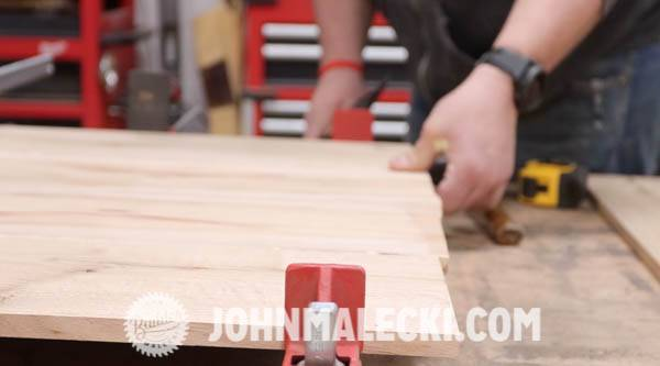 john malecki glues and clamps his door panels