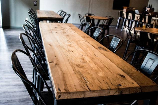Reclaimed Wood Industrial Tables