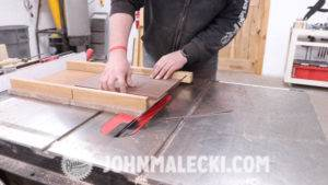 John Malecki cuts joinery while making a jewelry box