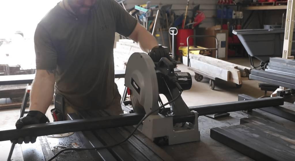John Malecki Cuts Metal for the Base