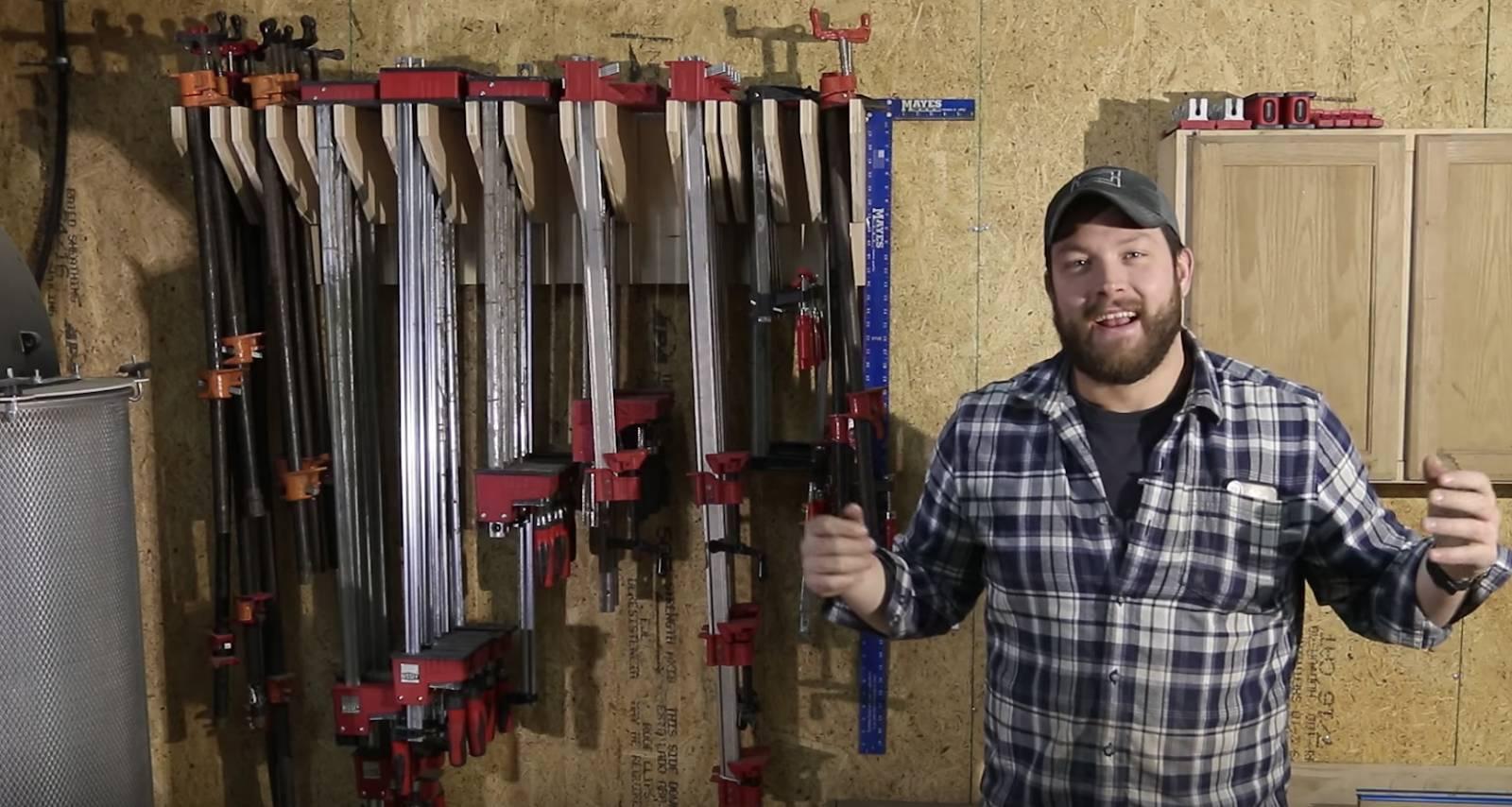 Adjustable Wood Clamp Rack Plans John Malecki