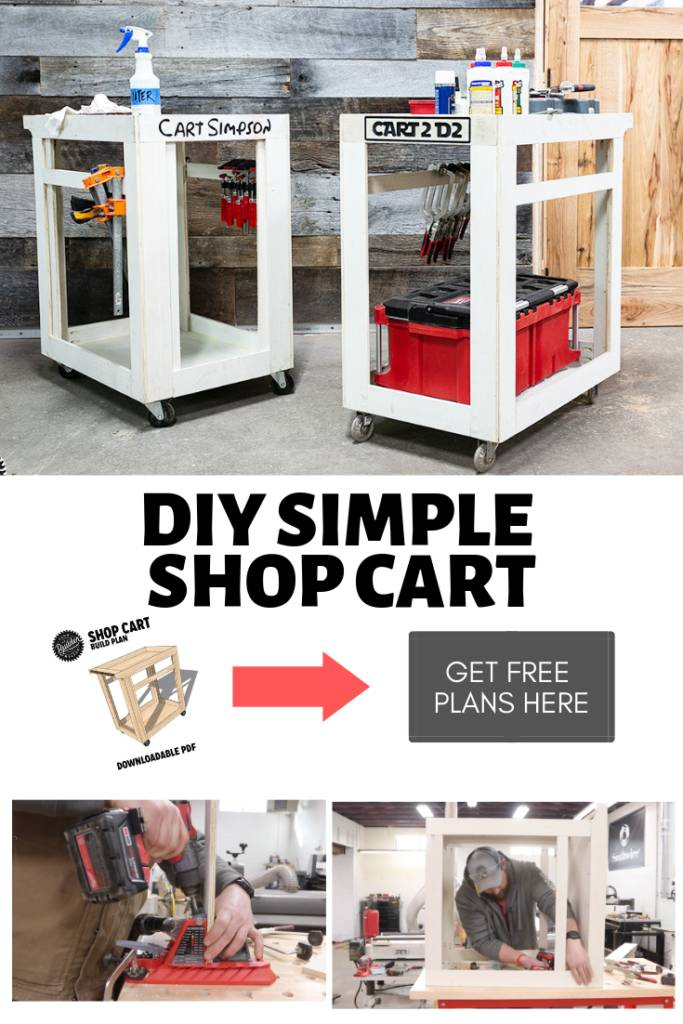pinterest graphic with the DIY cart plans