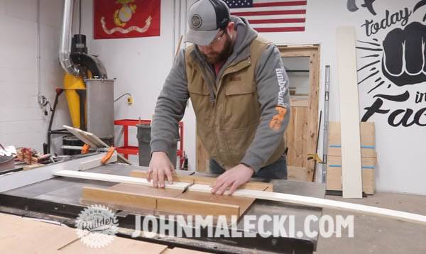 John malecki breaks down plywood for a DIY Cart