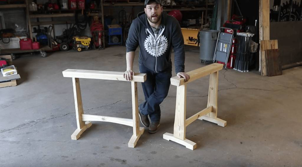 How to Make a Wooden Sawhorse with Simple Sawhorse Plans