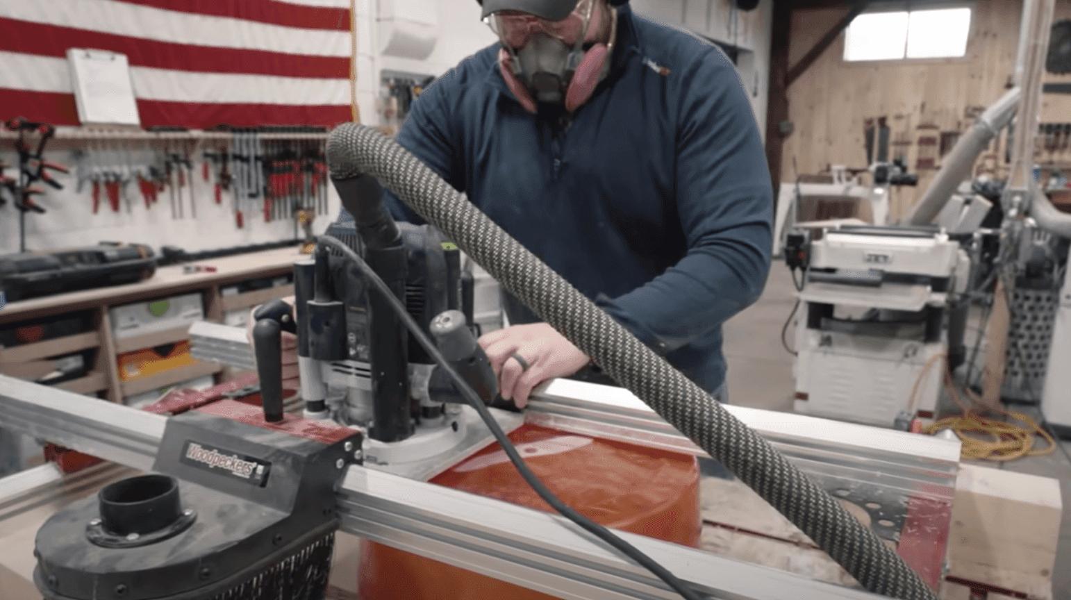epoxy flattening jig