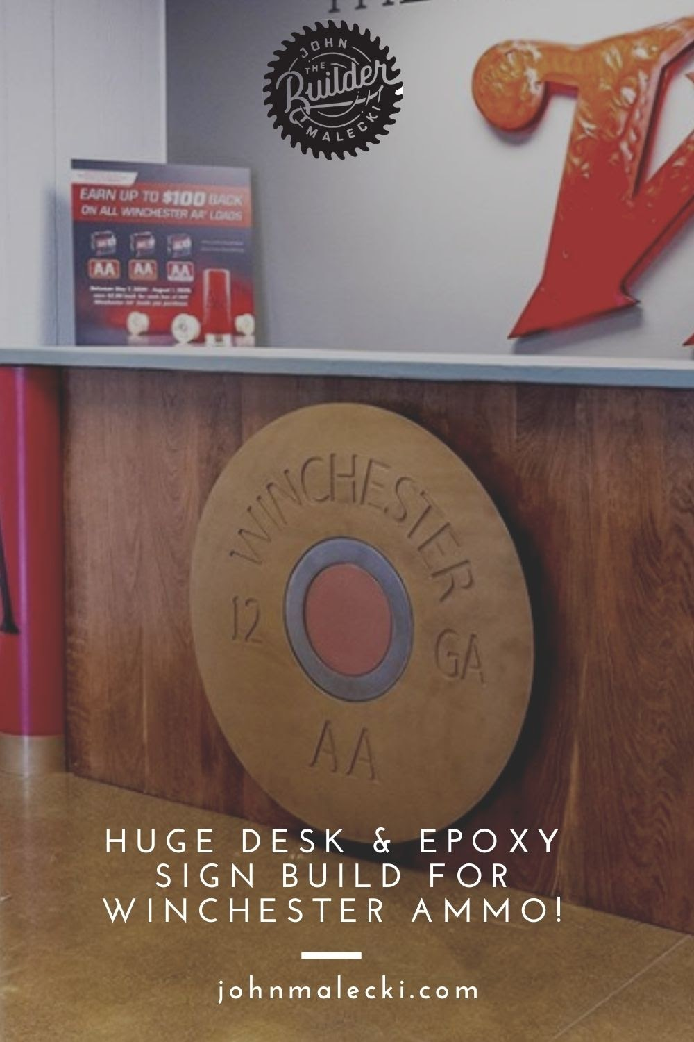 HUGE Desk & EPOXY Sign Build for WINCHESTER AMMO