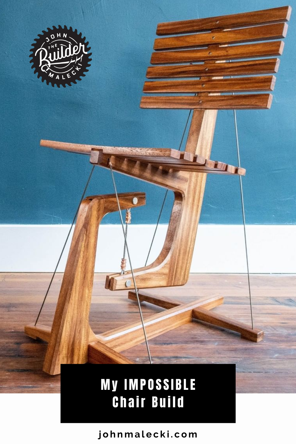 floating chair suspended with wires